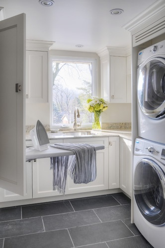 pretty white and grey laundry
