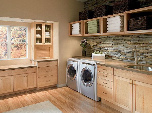 modern rustic laundry room