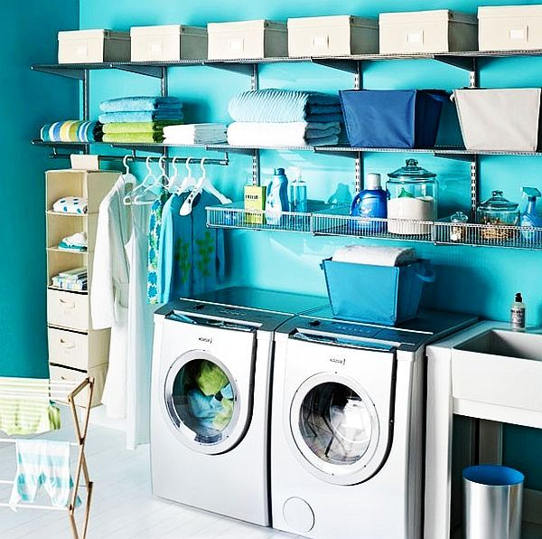 classic blue and white laundry