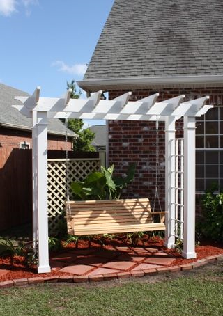 arbour and swing garden feature