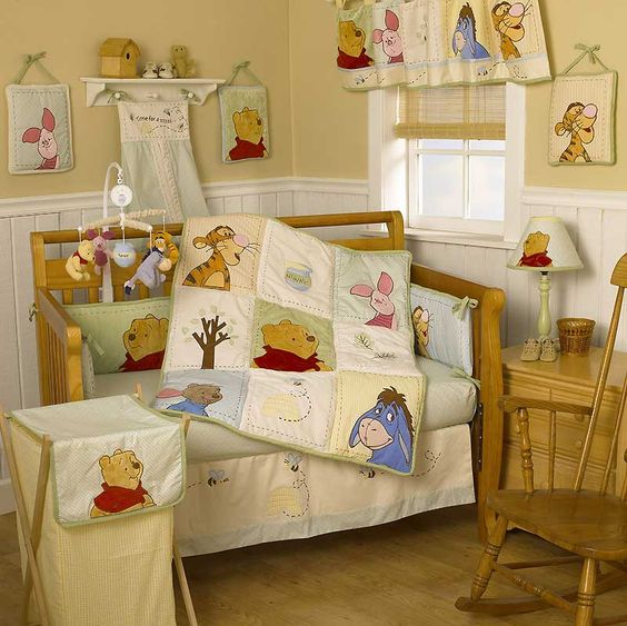 Pooh and friends themed nursery room