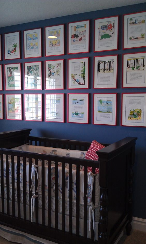framed story book pages