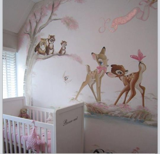 bambi and friends wall painting