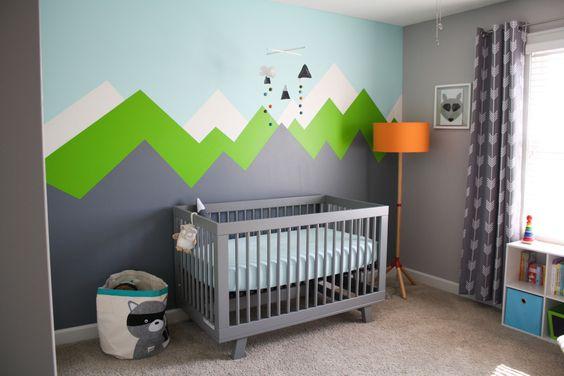 mountain wall decal for nursery room