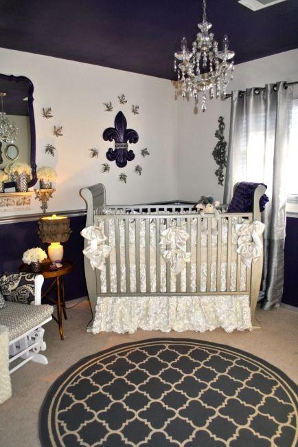 royal purple nursery room