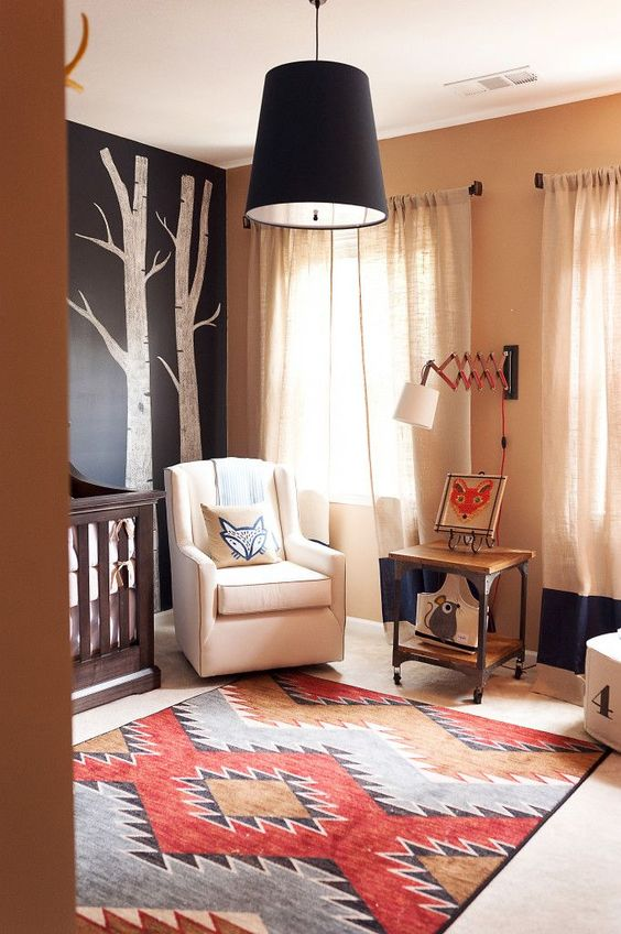 bright foxy and colourful nursery