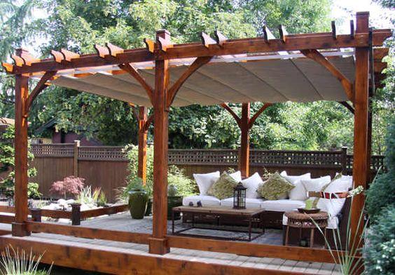 rustic stand alone garden pergola