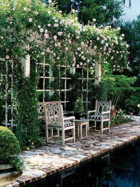 shabby chic garden pergola