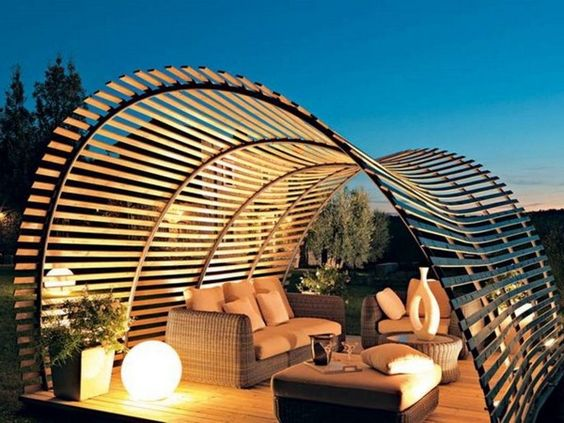 unique arched pergola