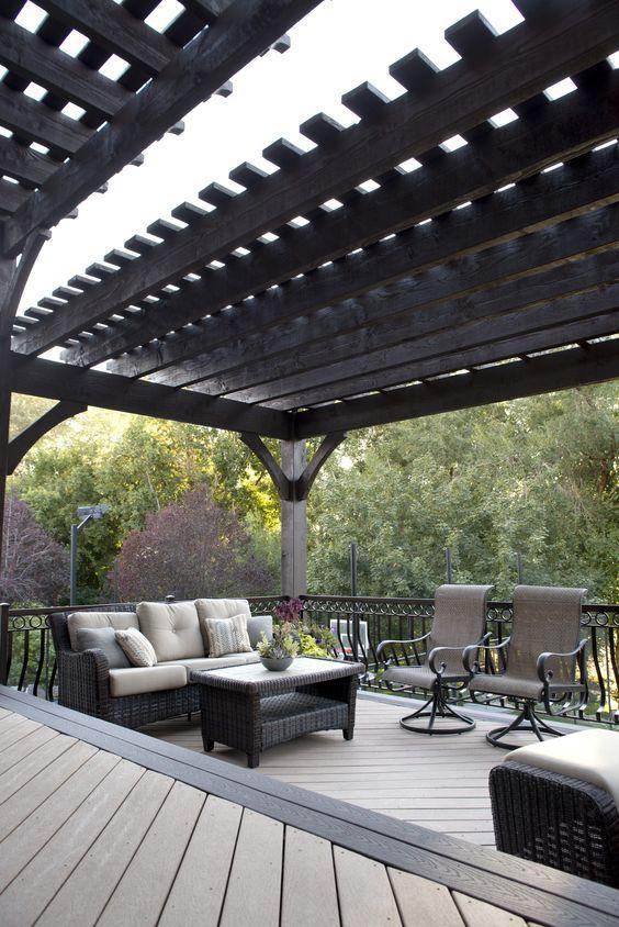suburban terrace pergola