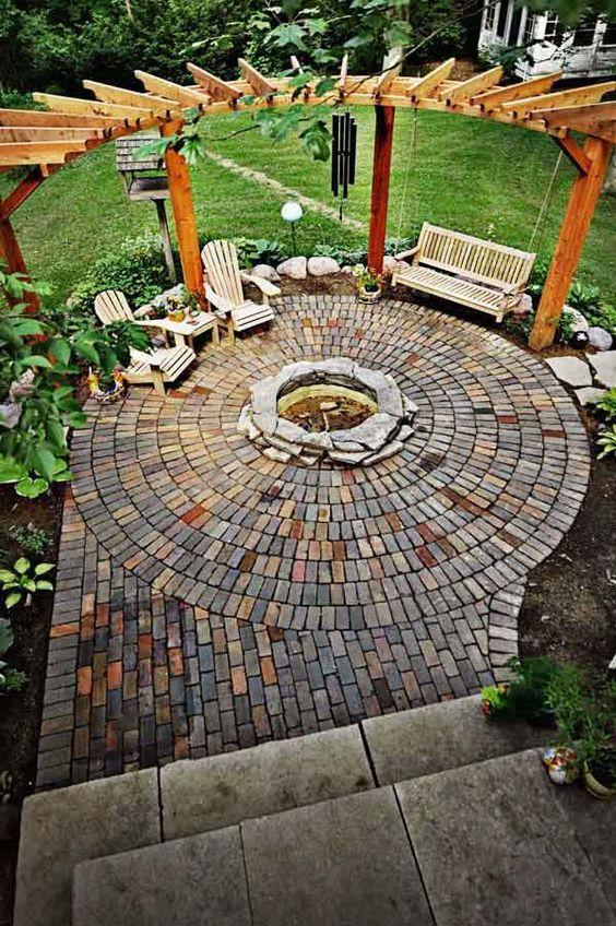 backyard circular pergola