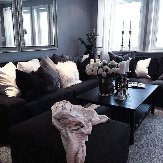 stylish Goth living room