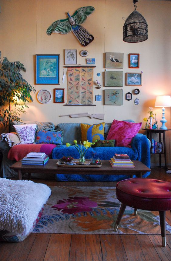 colourful whimsical living room