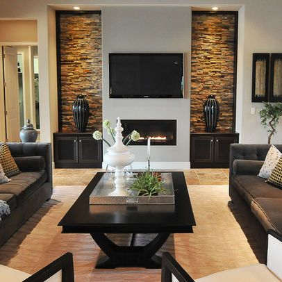Urbane symmetrical living room