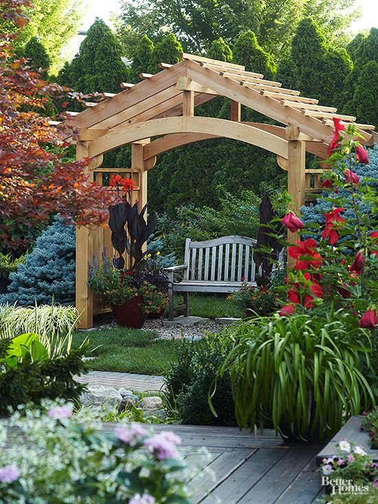 rustic garden arbour