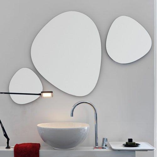 irregular shaped bathroom mirrors