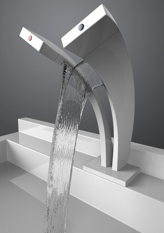 chrome hot and cold faucet