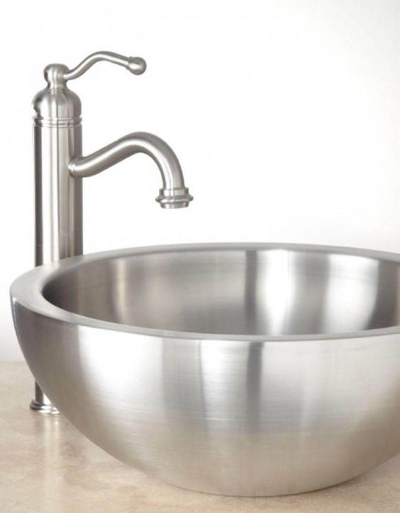 stainless steel sink vessel and faucet