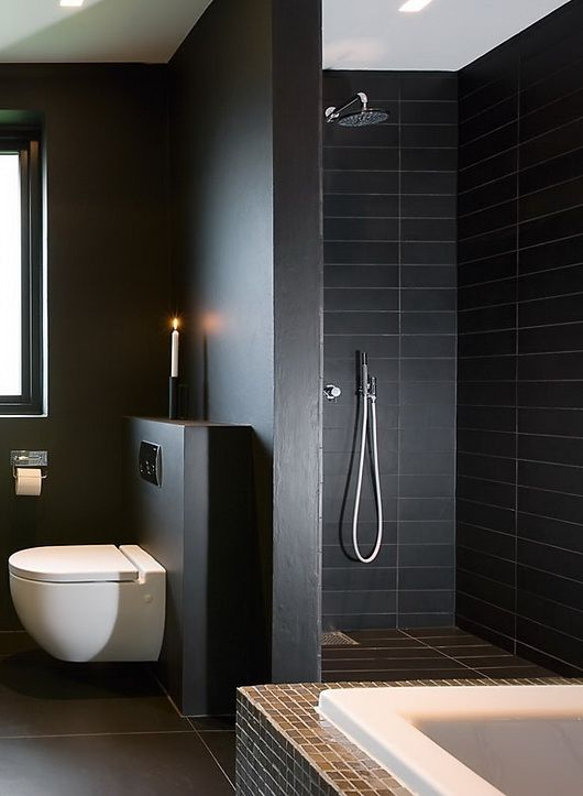 modern black bathroom