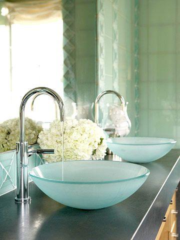 glass sink bowls