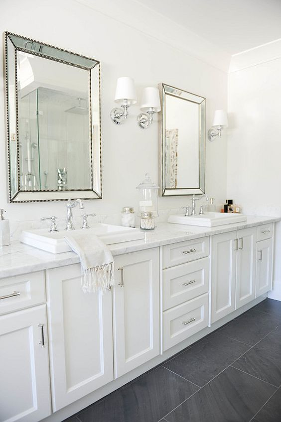 white stylish bathroom
