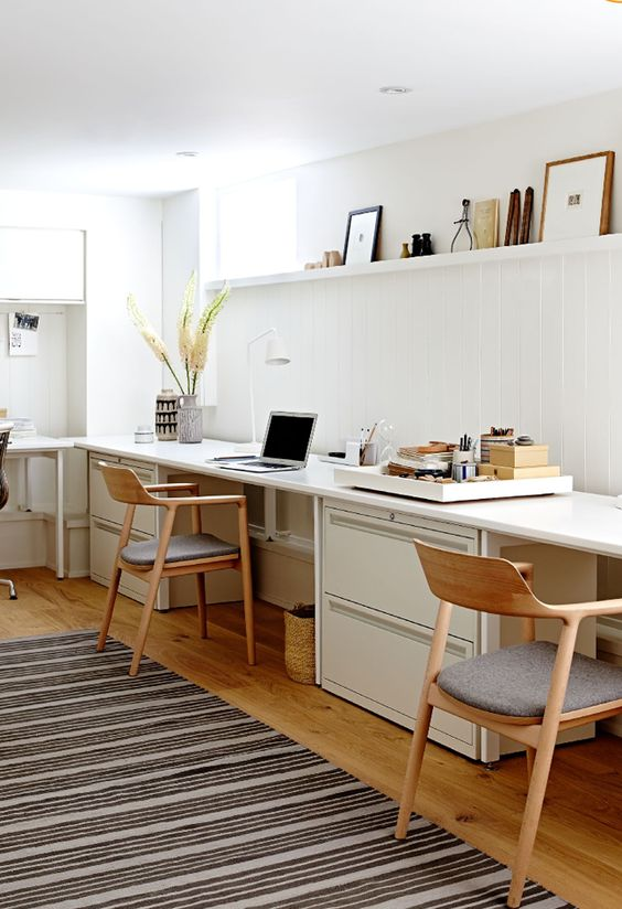 modern Nordic home office style