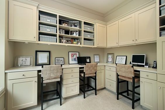 traditional family home office