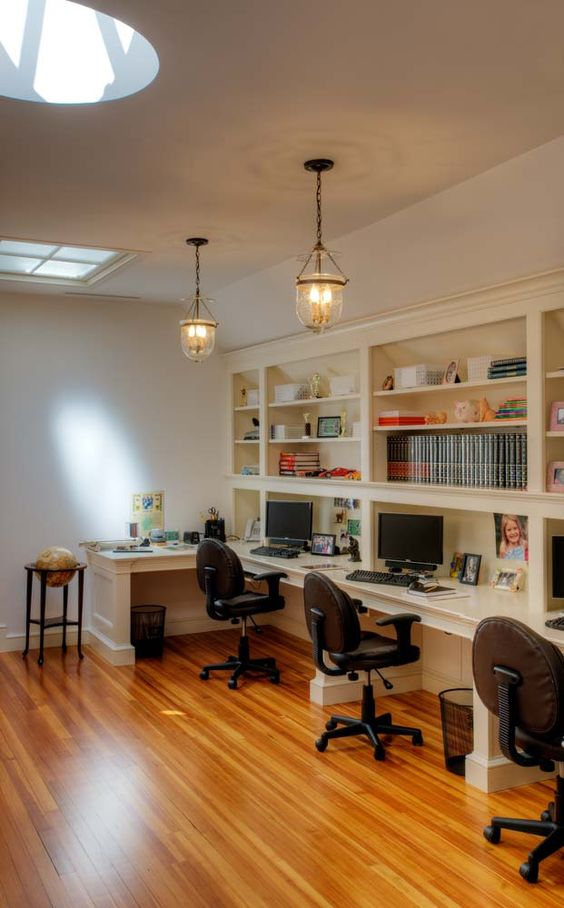 multi station family home office