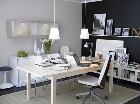 modern work and study room