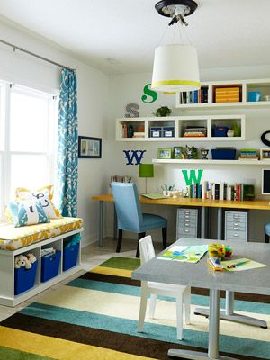 colourful family home office