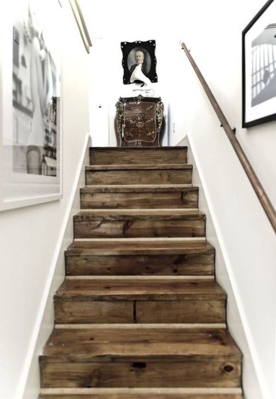solid wood staircase