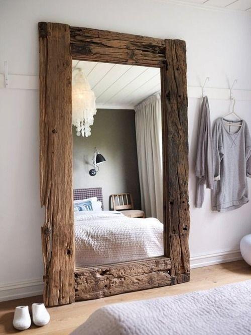 reclaimed wood mirror frame
