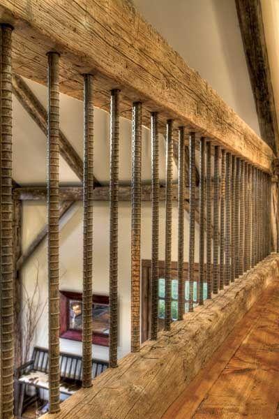wood and rebar railing