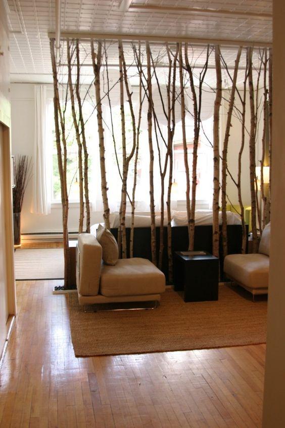 tree branch room divider