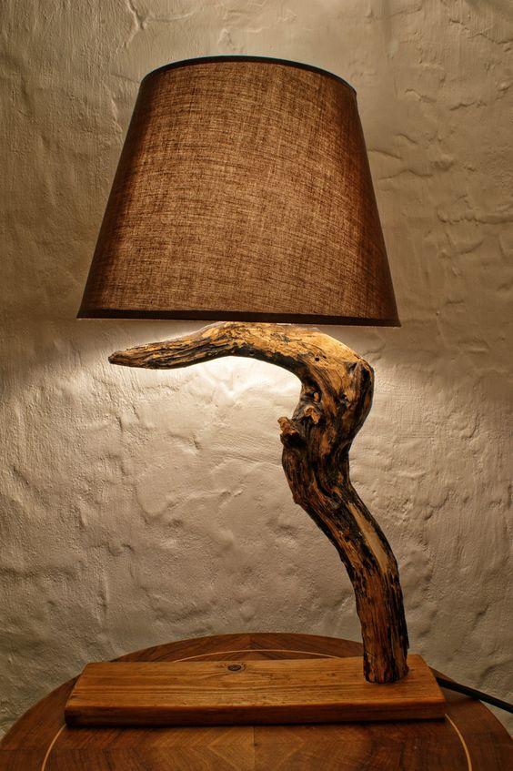 chic driftwood lamp