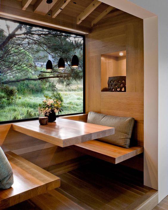 modern rustic breakfast nook
