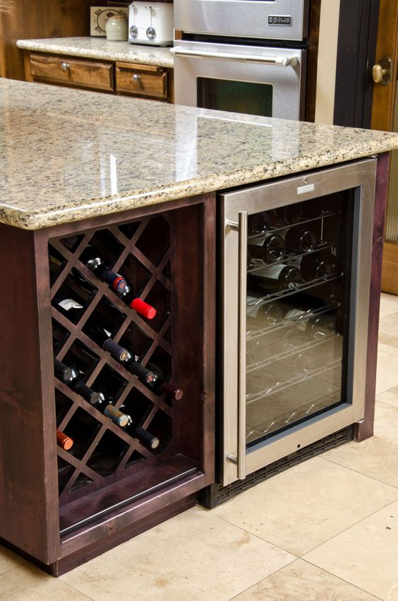 under the counter wine rack and cooler