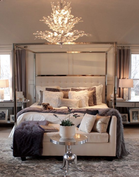 elegant and luxurious master bedroom