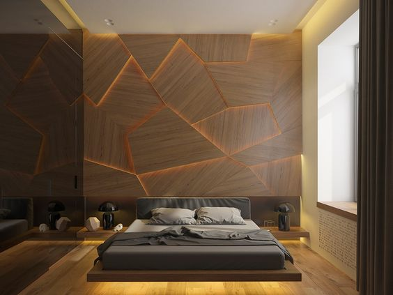 modern and minimalist bedroom