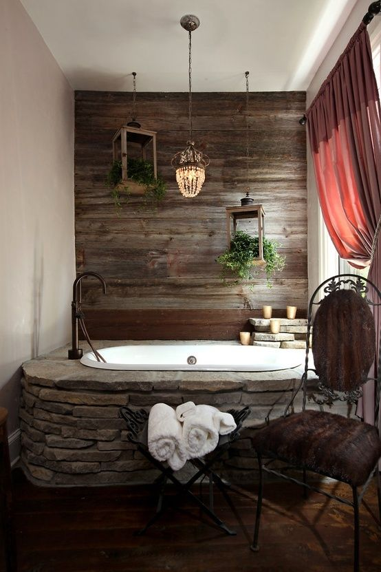 elegant rustic bathroom