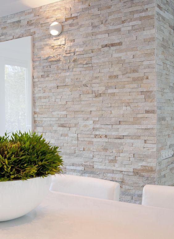 modern pale brick wall