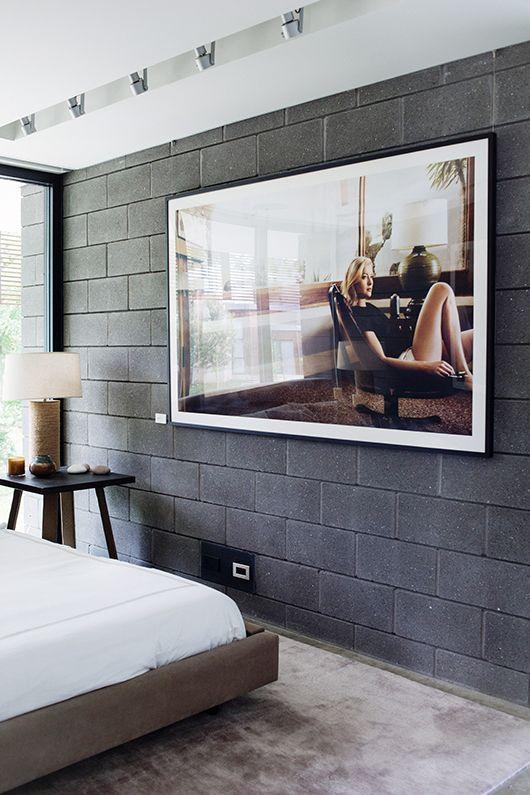 contemporary industrial bed room