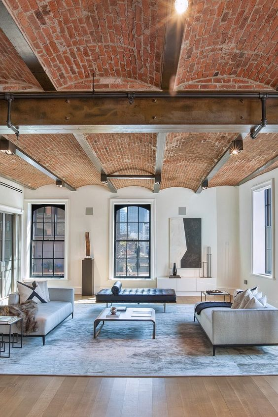 Soho apartment with exposed brick ceiling