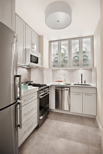 white+narrow+kitchen - Get Small House Kitchen Cabinet Design  Pics