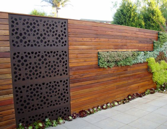creative fence wall