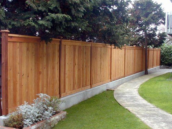 modern wood fence