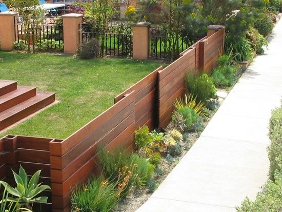 low wood fence