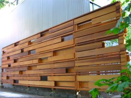 creative pallet fence