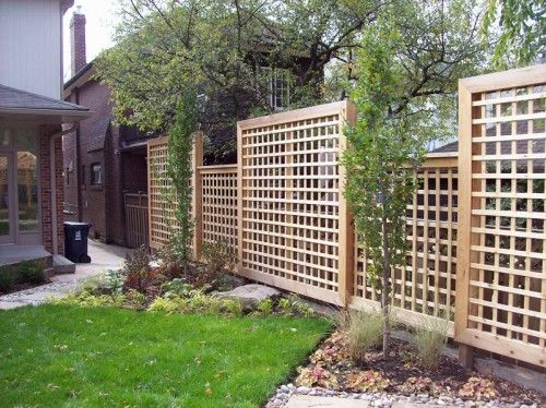 деревянный решетчатый забор