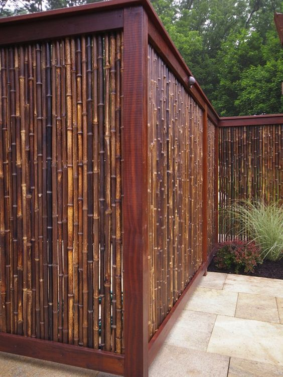 bamboo privacy fence